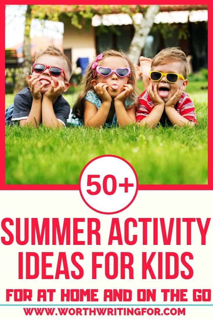 ideas for summer with kids at home