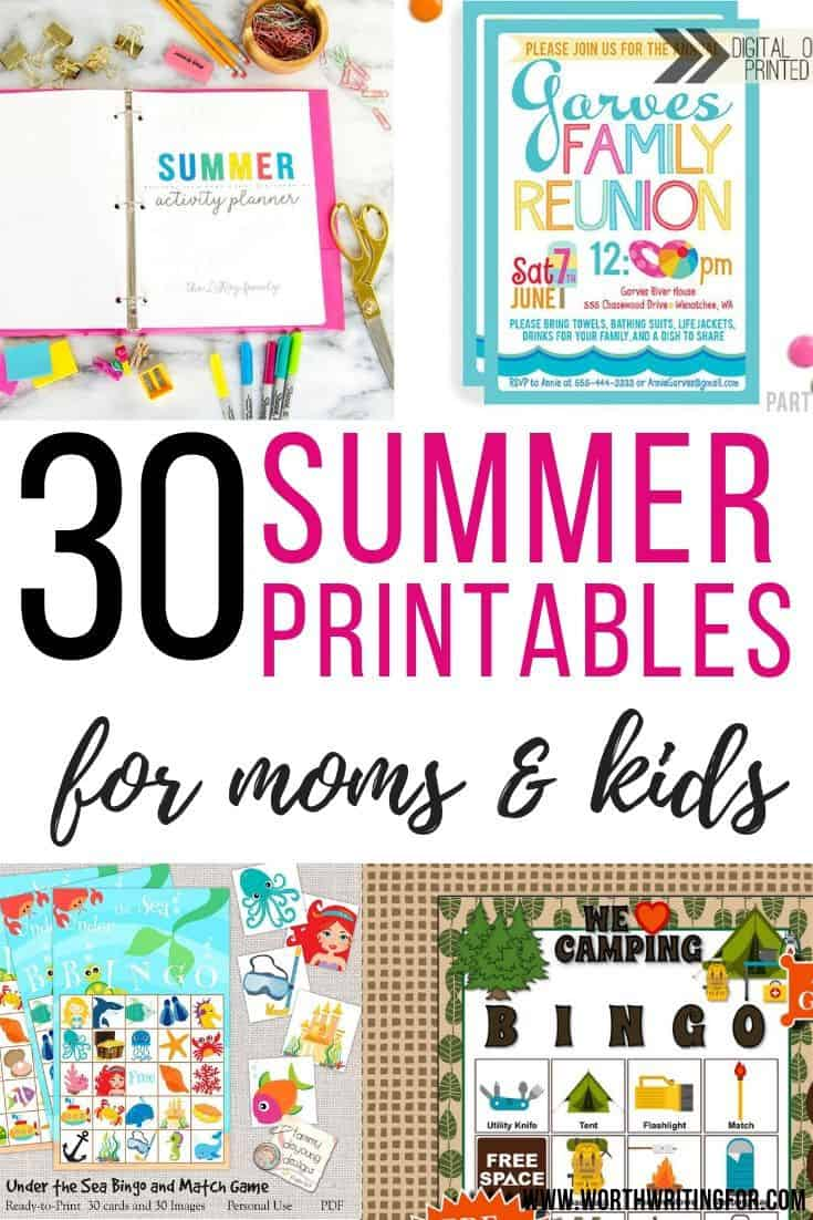 summer planner for moms