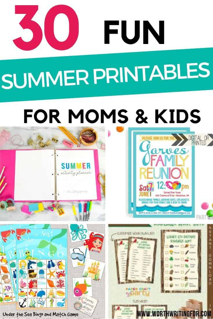 summer printable activities for kids