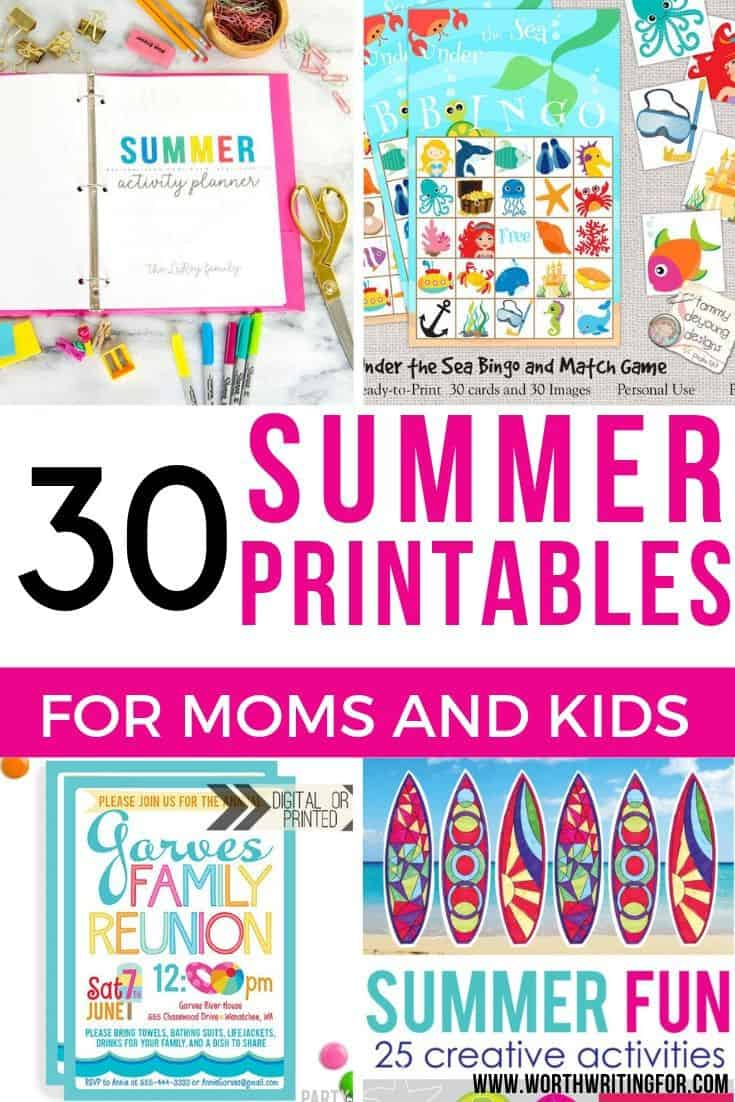 summer printable games for kids
