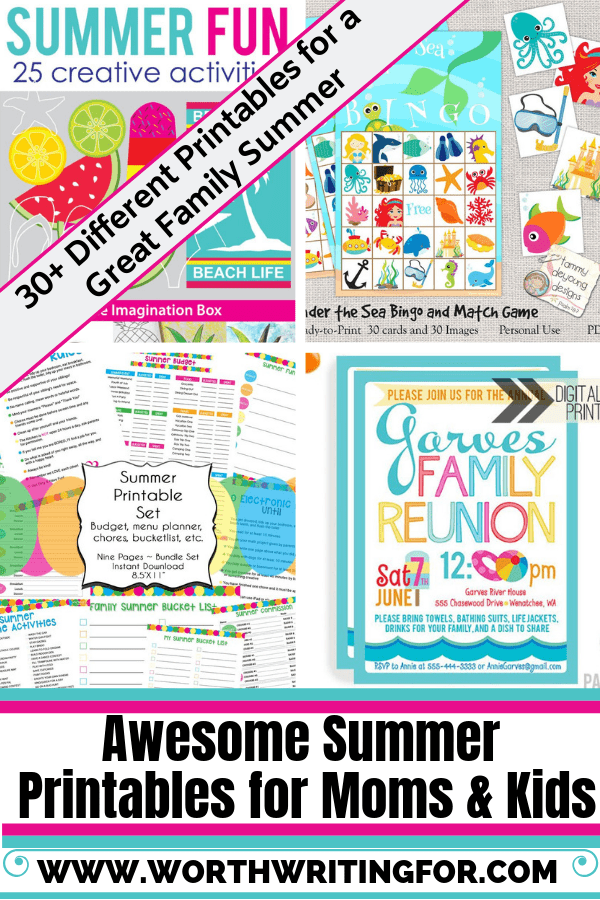 Summer Printable Activities, Games, Planners, Packing Lists and More