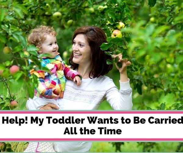 Help! My Toddler Wants to Be Carried All the Time