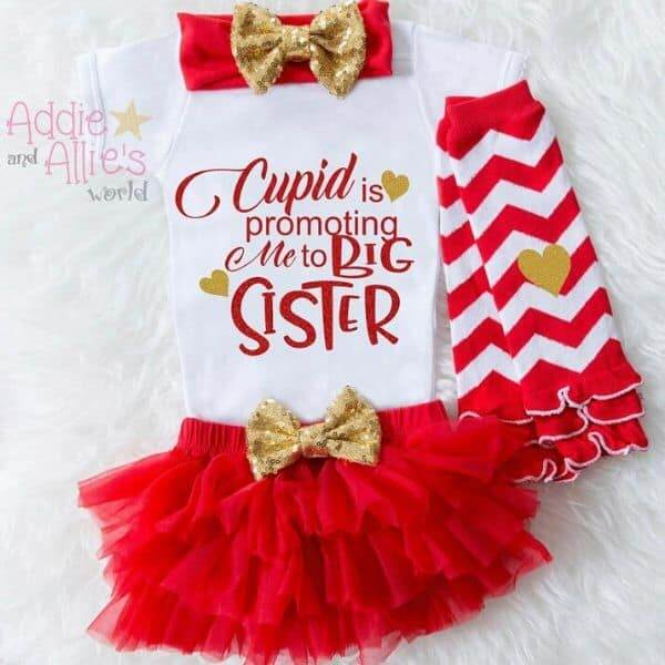 Valentine's Day Big Sister Pregnancy Reveal Shirt