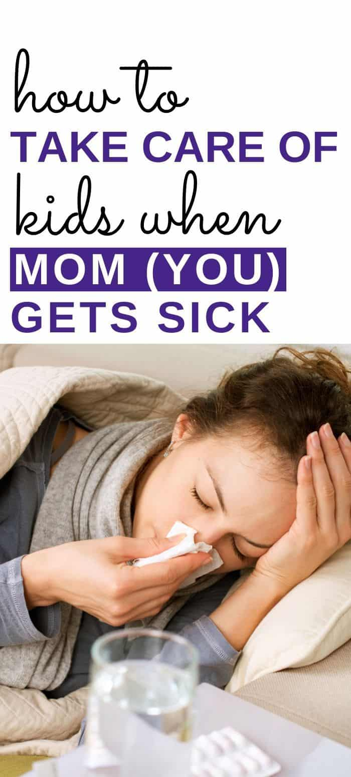 taking care of toddler when you're sick