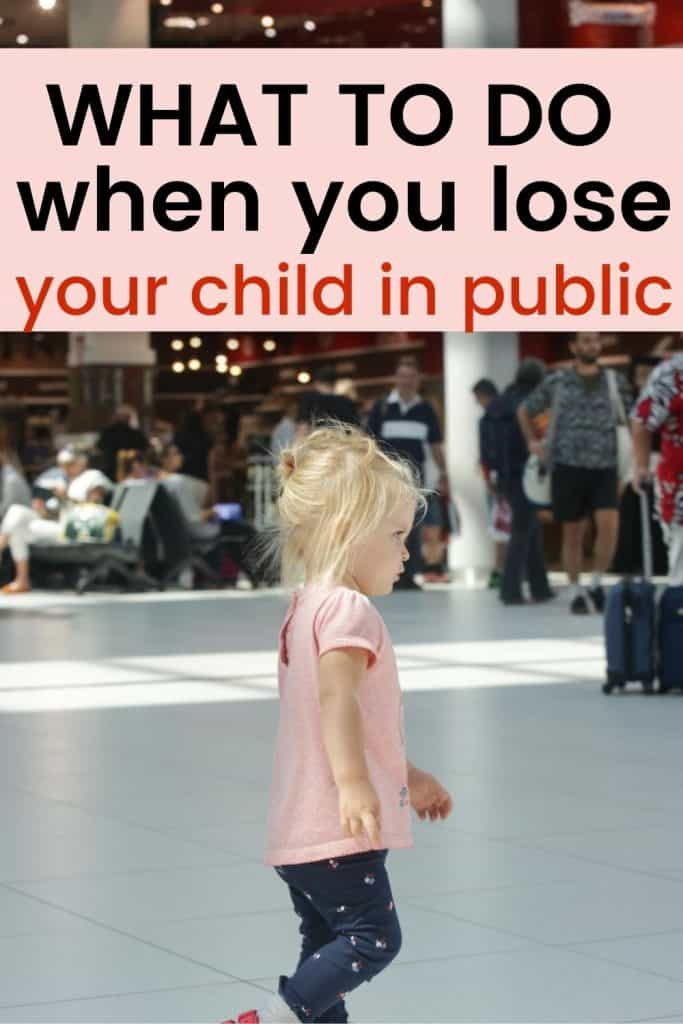 prepare child for getting separated in public