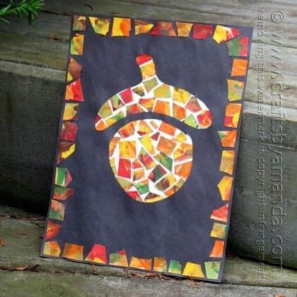 acorn fall kids craft