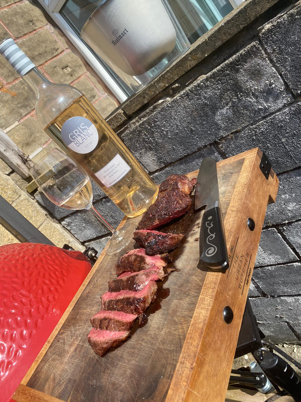 Sliced Steak medium rare