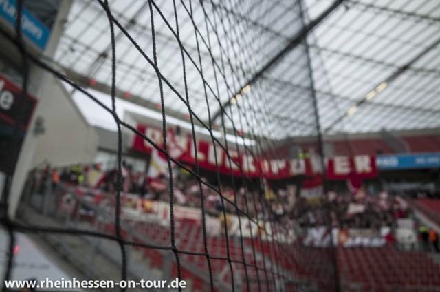 Mainzer Fans bei der Auswärtspartie in Leverkusen. (Fotp: Rheinhessen on Tour)