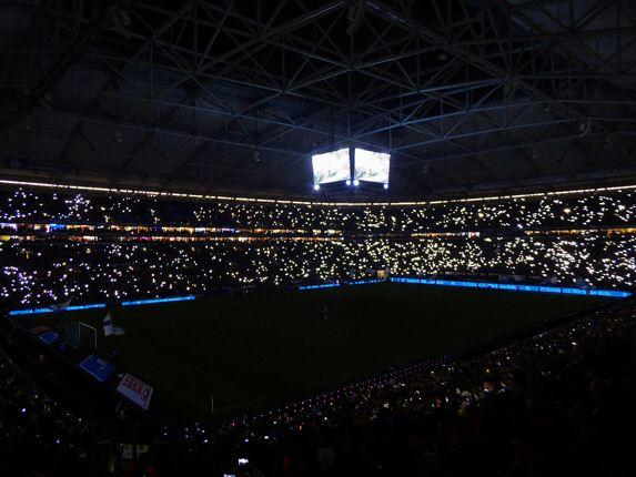 Flutlichtspiel der Mainzer auf Schalke in der Vorsaison. (Foto: Meenzer on Tour)