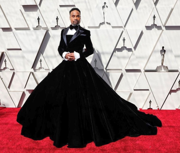 Billy Porter Wears Gown At The Oscars