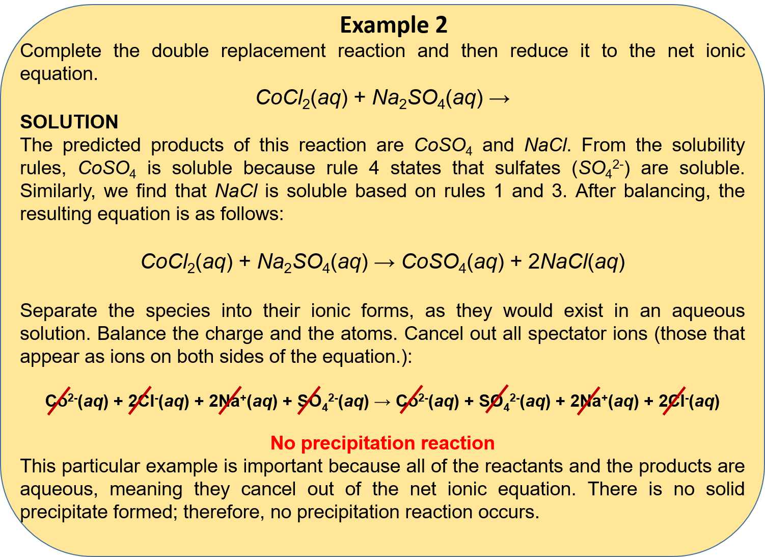 Chemistry Net Ionic Equation Practice