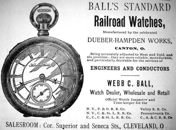 1890 Ball Watch Ad