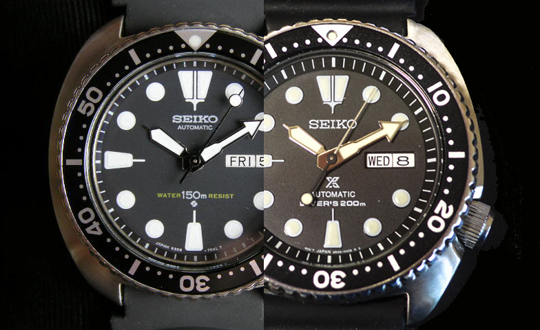 Seiko Tortugas New vs Vintage  Turtles