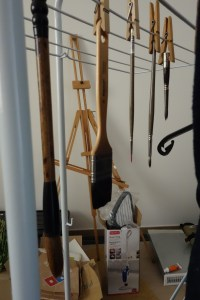 Drying my watercolor brushes