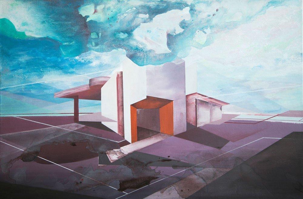 Abandoned Acryl Painting