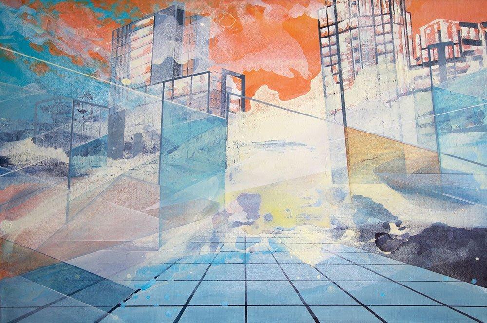 Cityscape Acryl Painting