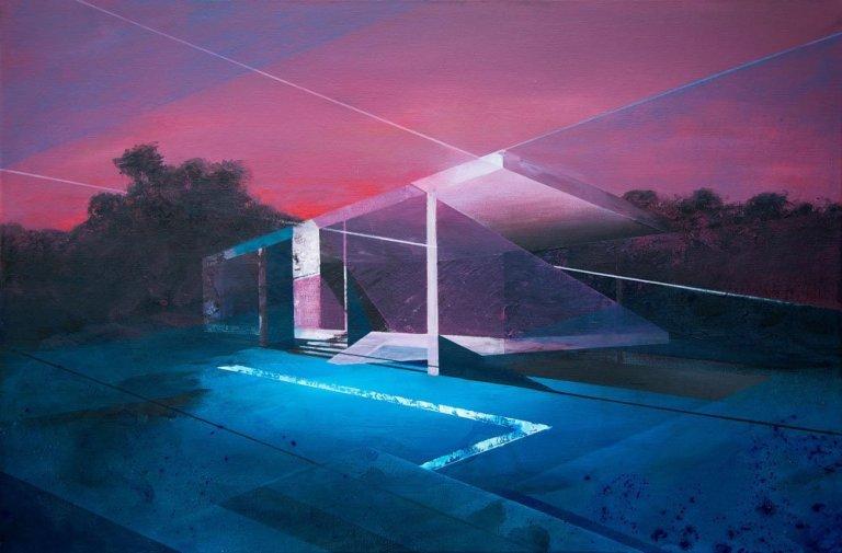 Future House Acryl Painting