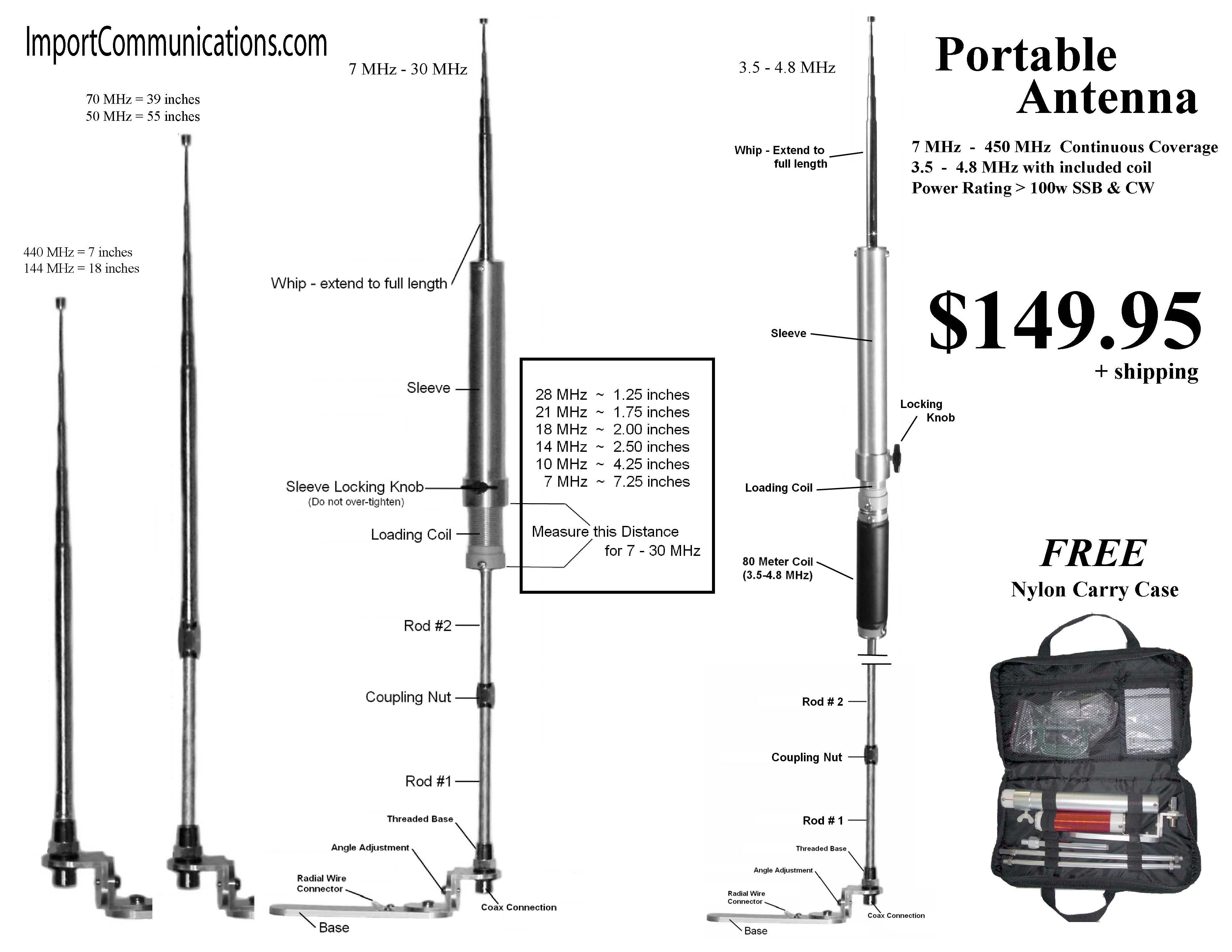 Portable All Band Antenna