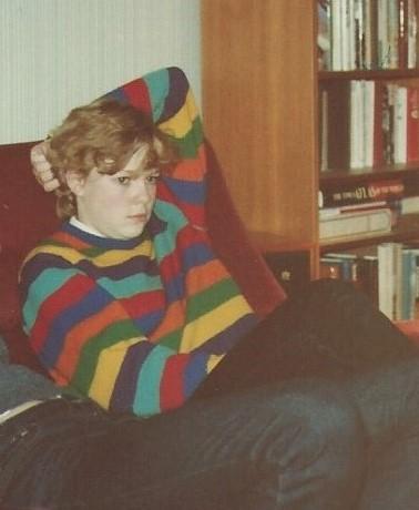 1980s stripey jumper phase