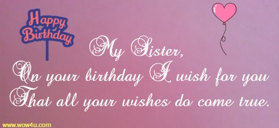50 Happy Birthday Sister Wishes Quotes And Messages