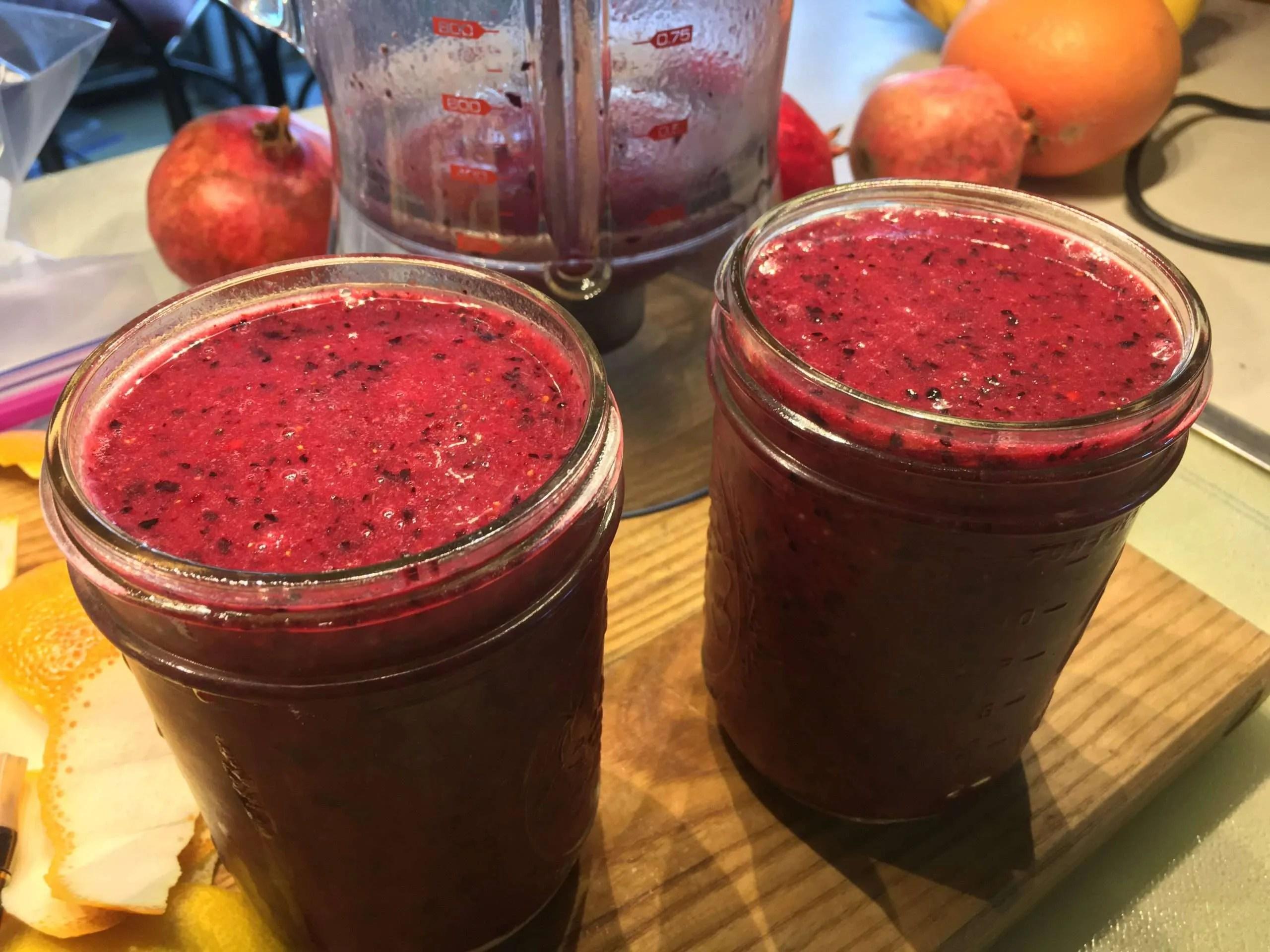Blueberry/Blood Orange Margaritas
