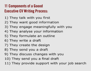 11 Components of a Good Executive CV Writing Service Process
