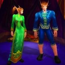 Vestido Festivo Verde e Conjunto Festivo Azul