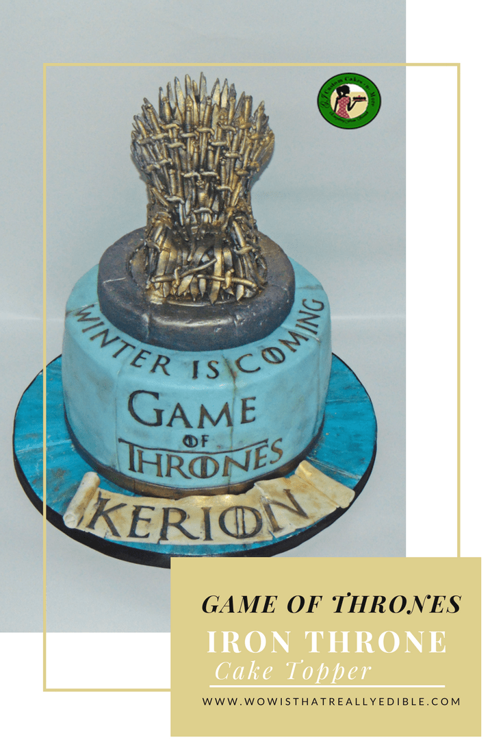 Game Of Thrones Cake Iron Throne Topper