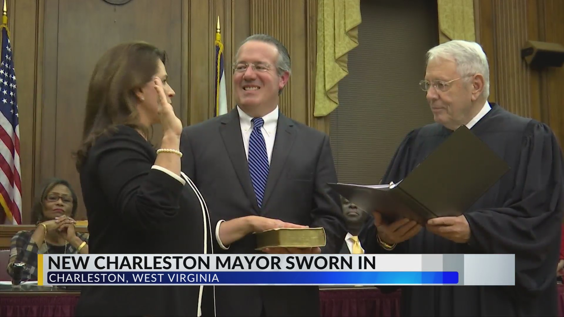 Goodwin Sworn in As Charleston's First Female Mayor