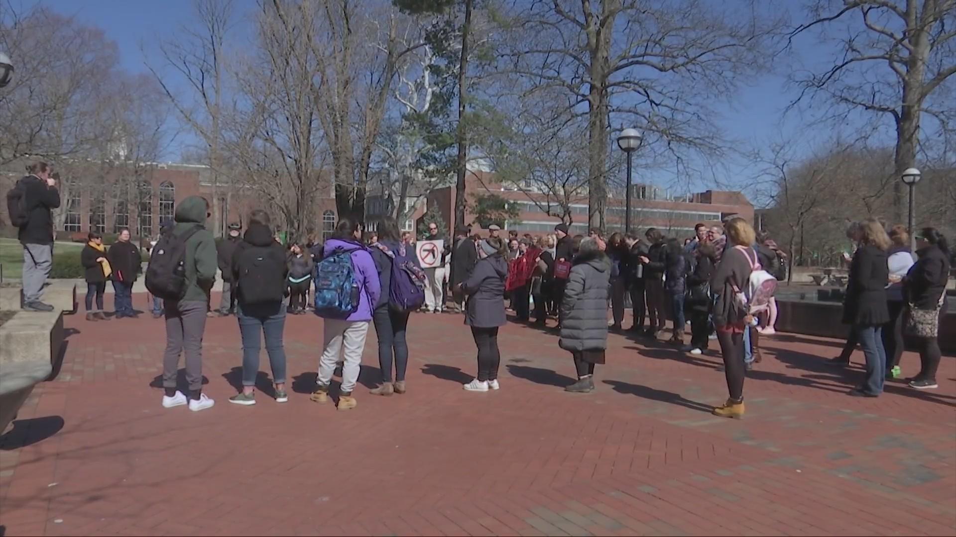 Protest Held at Marshall University Toward House Bill 2519