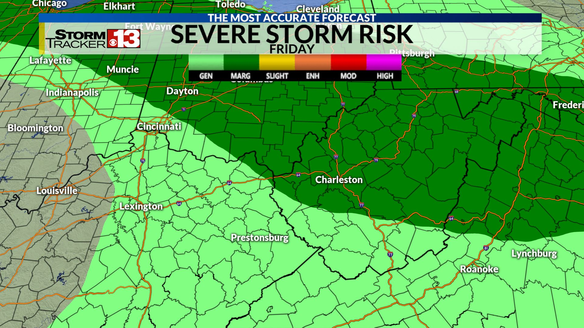 Storm Risk Outlook Friday May 17, 2019