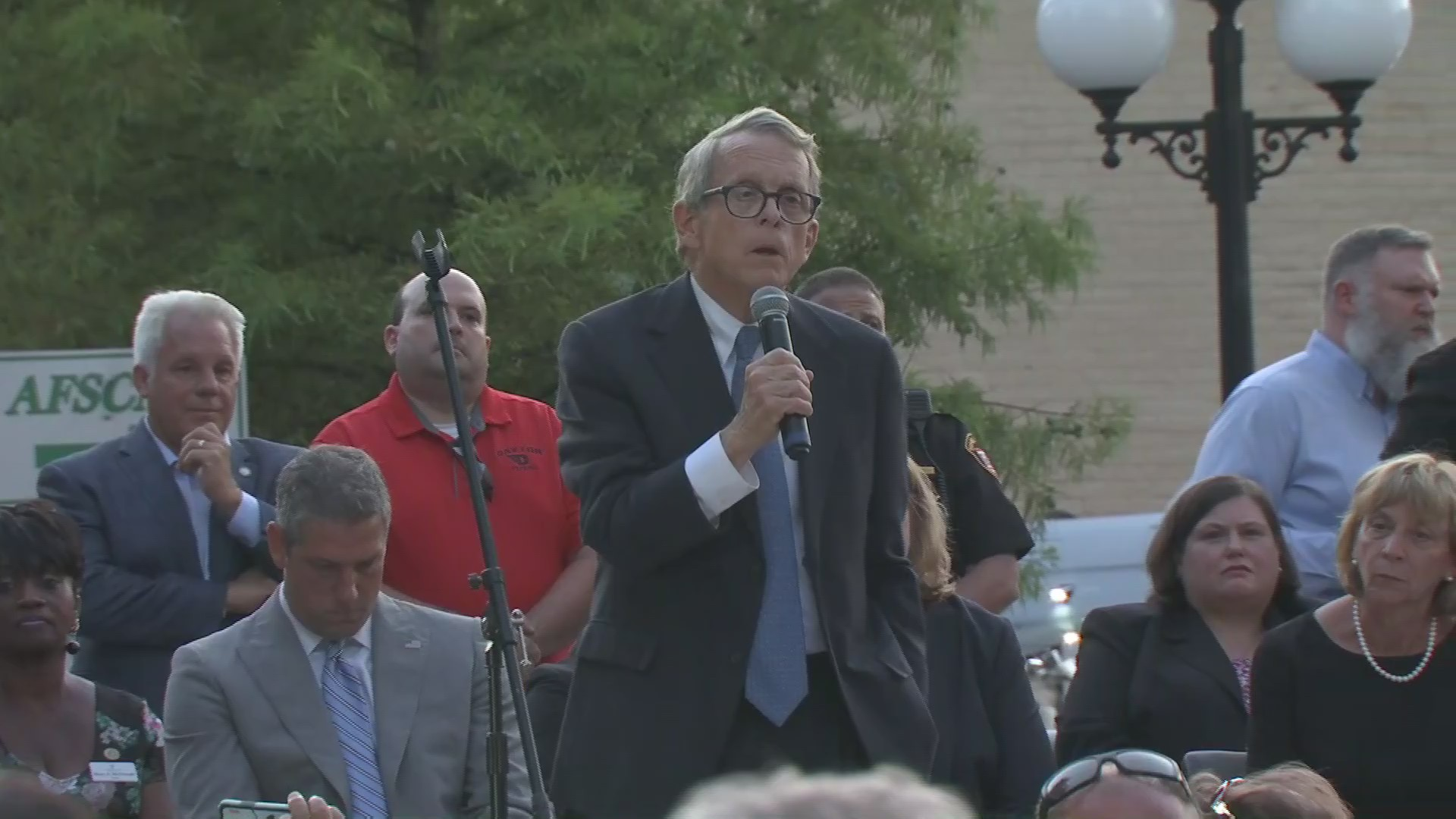 Ohio Gov  DeWine interrupted by chants of 'do something