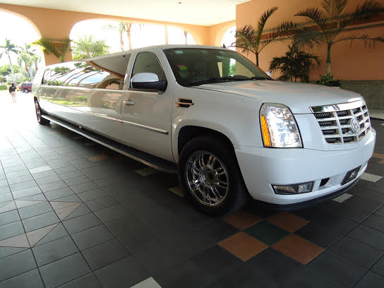 side view escalade limousine picture