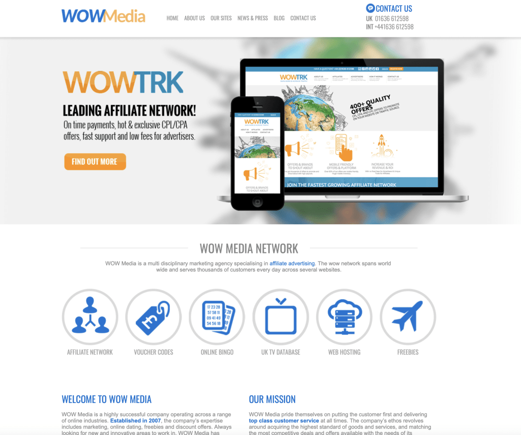 WOW Media website 2014 update