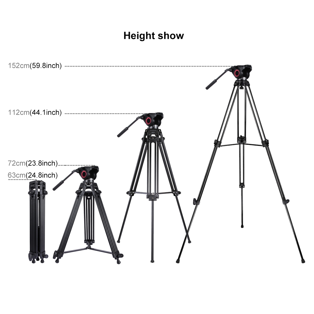 Puluz 3 In 1 Tripod Bowl Adapter Black Fluid Drag Head Wow Now Productions
