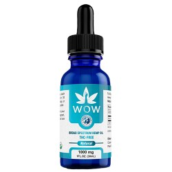 picture of thc free cbd tincture bottle