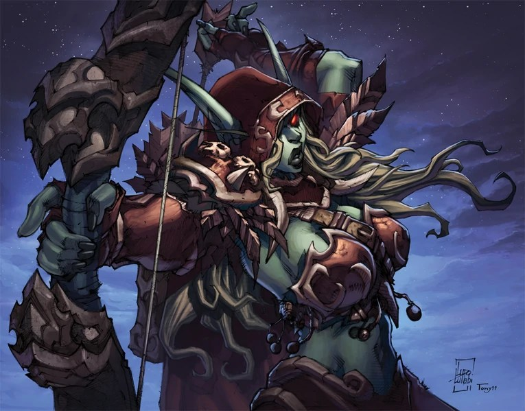 "Art of Sylvanas Windrunner from the story ""Edge of Night"""
