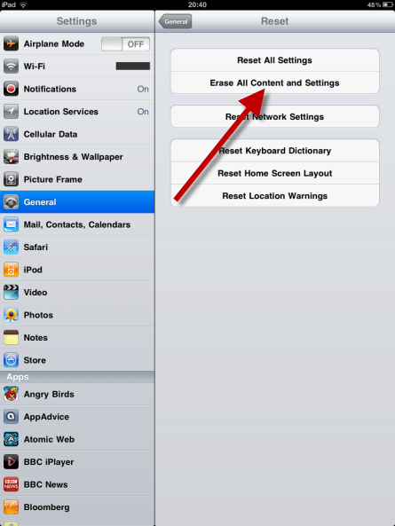 How To Wipe iPhone iPad iPodTouch