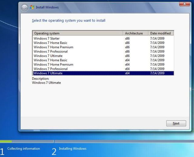 How to create a combined x86 and x64 Windows 7 installation DVD