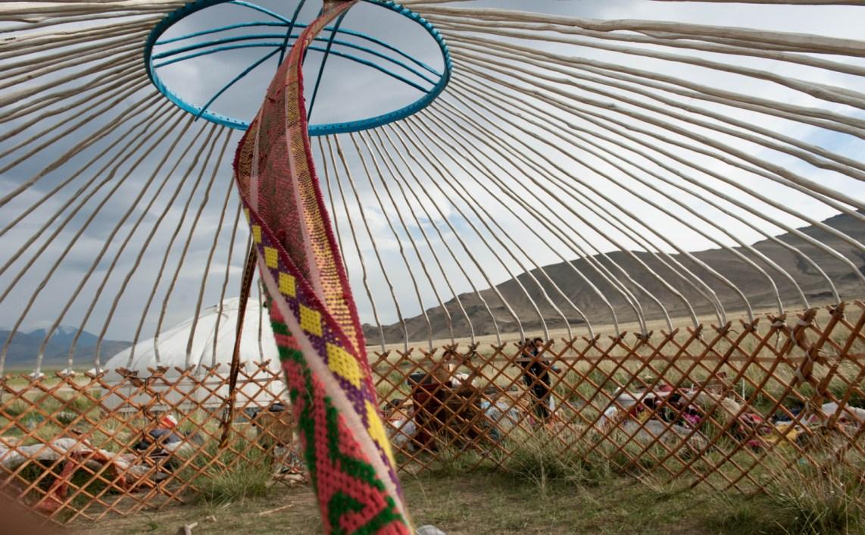 La struttura che sorregge una gher dei nomadi mongoli