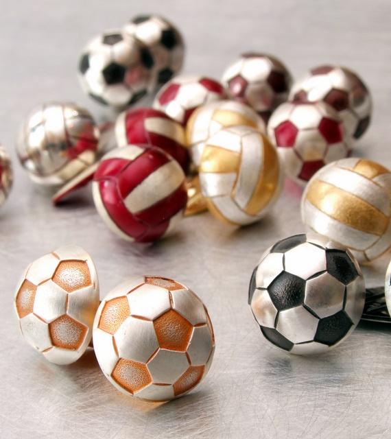 Srebrne spinki mankietowe Piłka nożna