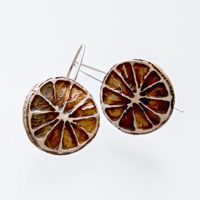 Srebrne kolczyki Cytrynki