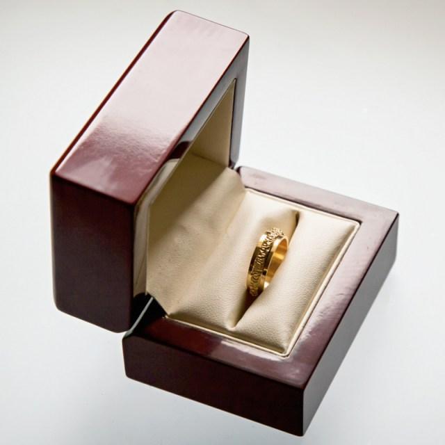 Złote lub srebrne obrączki 3 Pasy