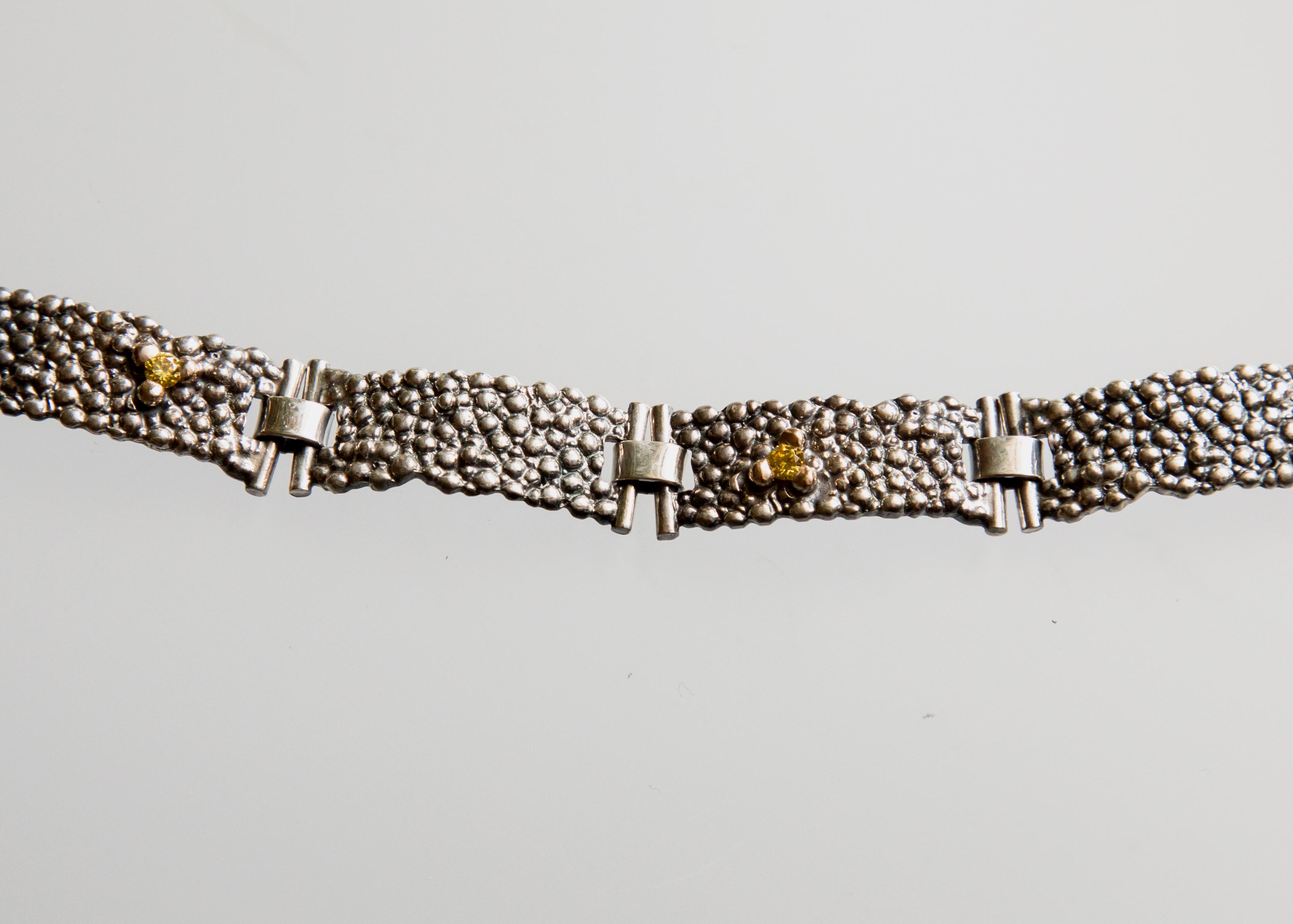 Srebrna bransoleta Płaszczka segmentowa