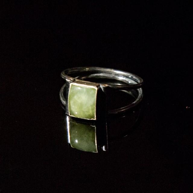 Srebrne pierścionki z berylami