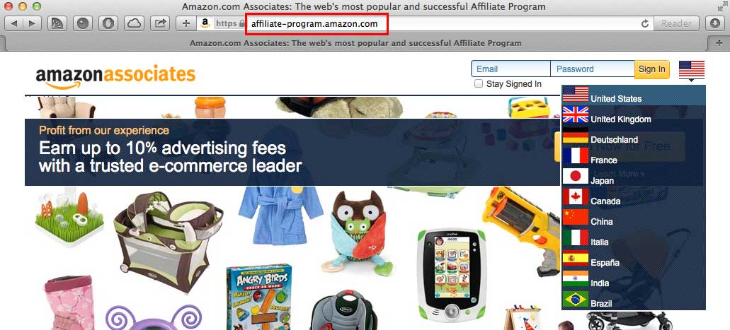 amazon affiliate store examples