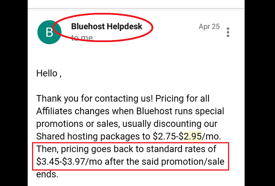 Bluehost Special Pricing is Limited