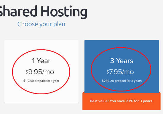 Undiscounted DreamHost Plans on Renewal