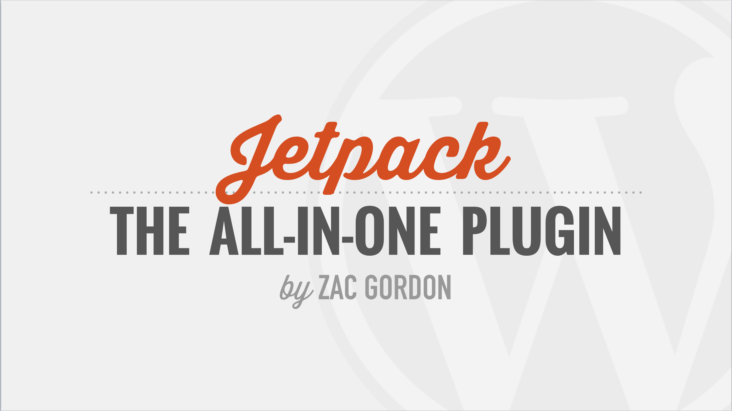 Getting Started With The Jetpack Plugin Tutorial Course