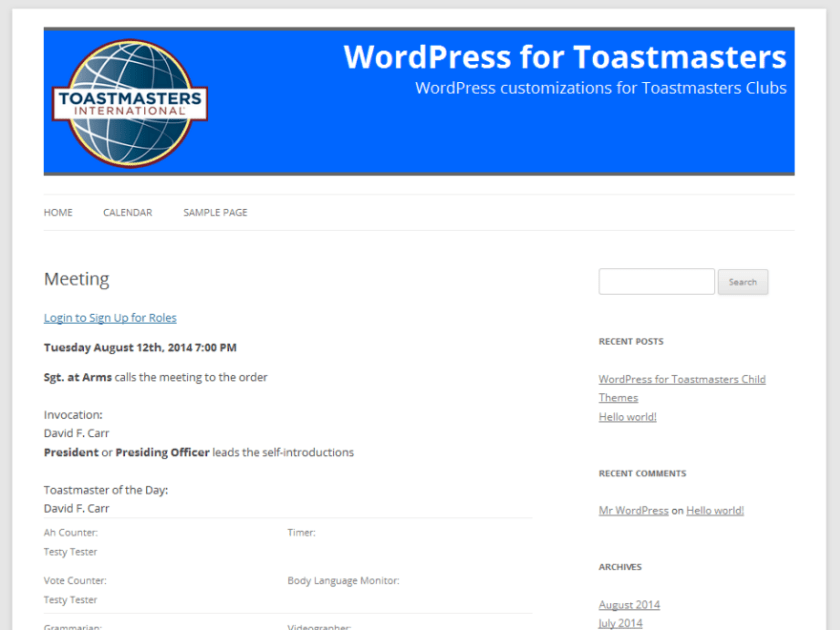 TwentyTwelve Toastmasters